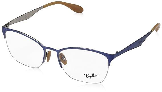 Ray-Ban Damen Brillengestelle 6345, braun, 52