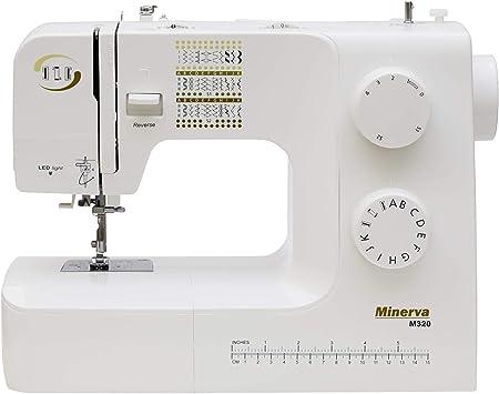 Máquina de coser Best Domestic Portable Euro Pro - Máquina de coser electromecánica blanca barata | Minerva M320 220 ...