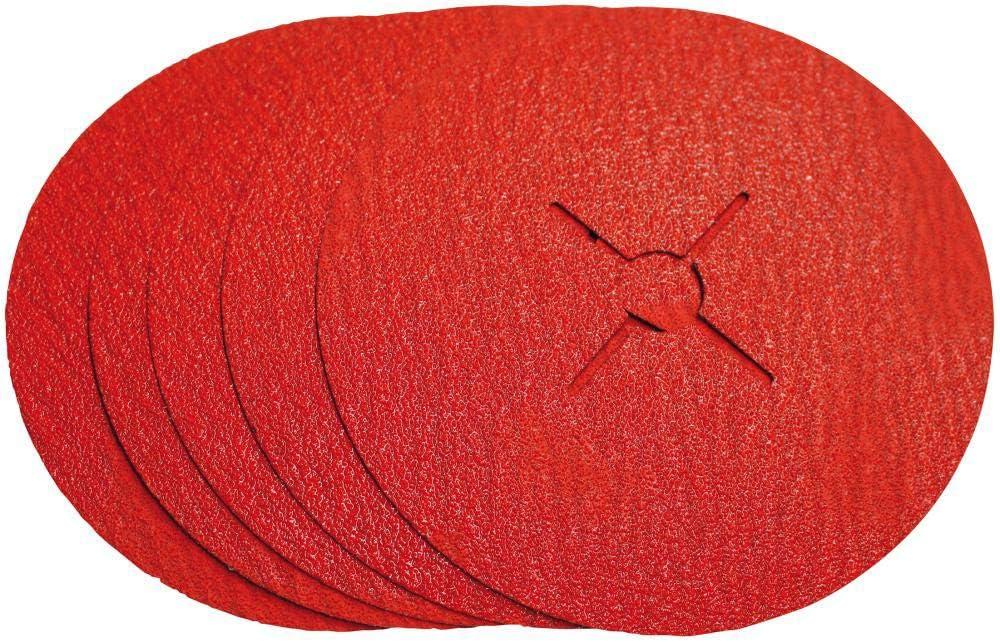 VSM 731274 Disque Abrasif sur Fibre C/éramique Grains 40 Rouge 180 mm