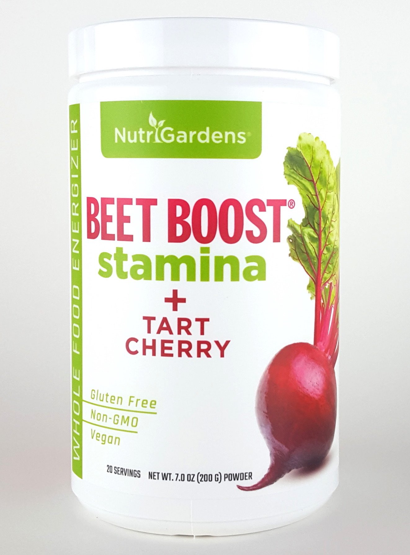 BEET BOOST® for Stamina by NutriGardens - Increase Endurance & Circulation – Concentrated Beets Blended with Tart Cherry for Nitric Oxide BOOST - Reduce Inflammation in Joints & Muscles (7 ounces jar) by Beet Boost (Image #1)