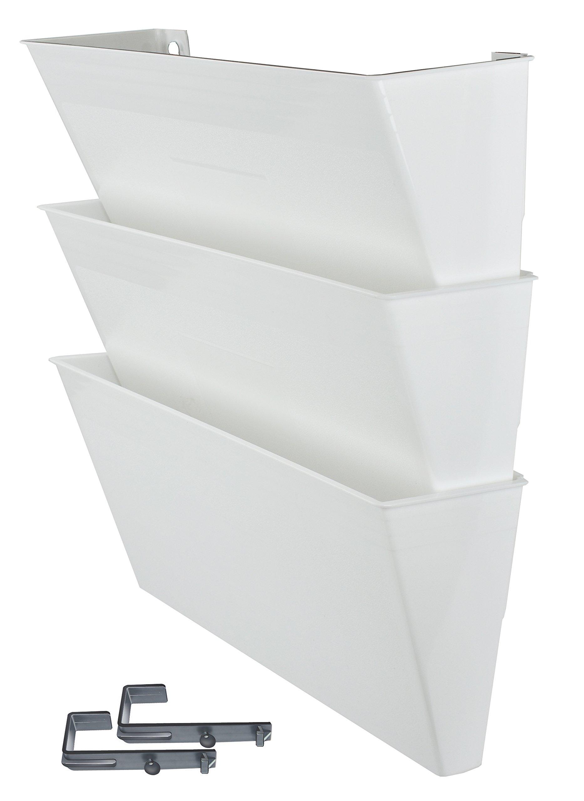Acrimet Wall-mounted Modular File Holder (3 - Pack) (White Color)