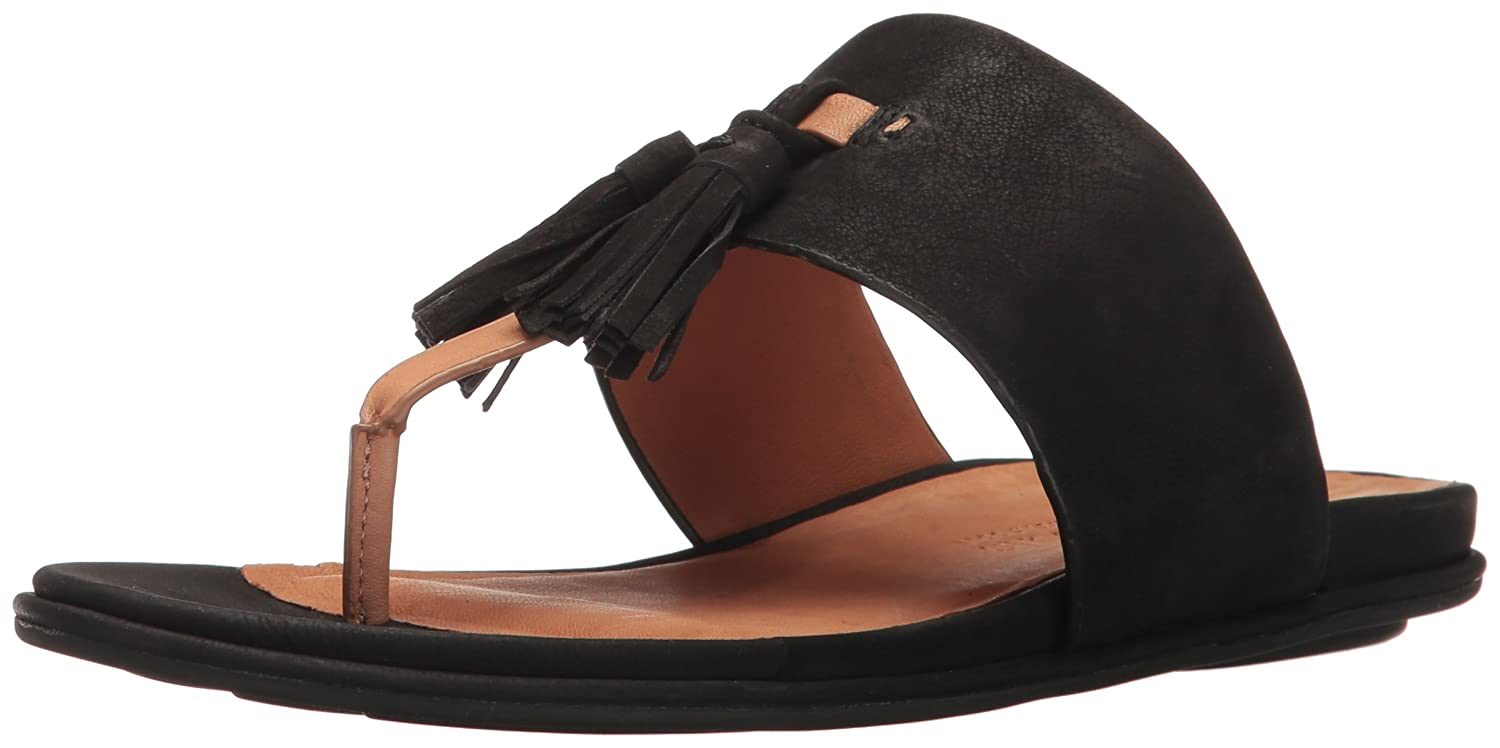 Gentle Souls by Kenneth Cole Women's Ottie Flat Sandal B01N3TAWBL 5.5 B(M) US|Black