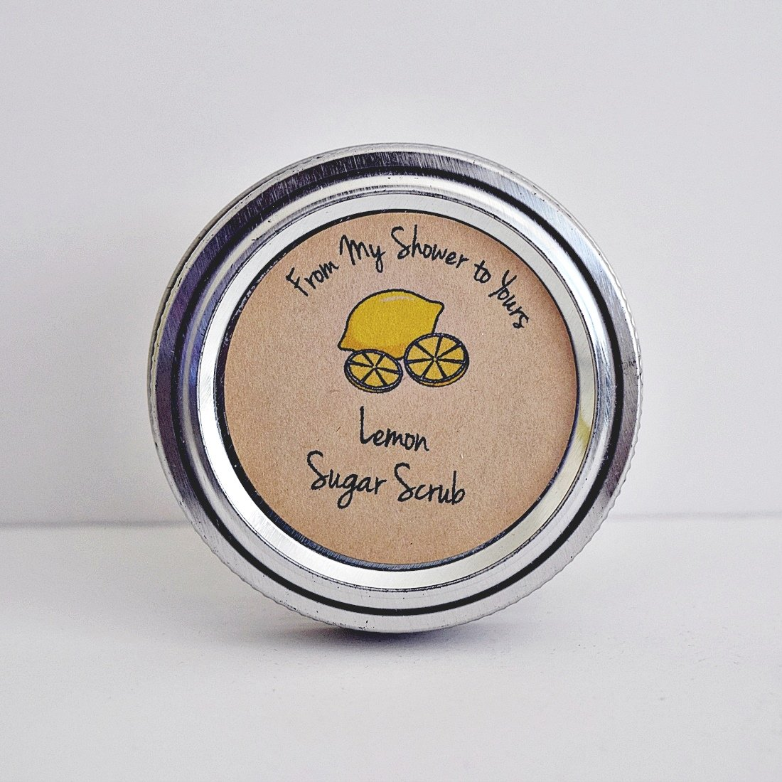 Lemon Sugar Scrub Labels for Bridal and Baby Shower Favors, From Our Shower To Yours, by Once Upon Supplies, 2'' Diameter, 40 Pcs by Once Upon Supplies (Image #3)