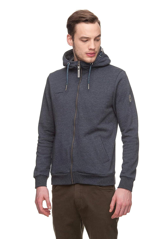 Ragwear Herren Sweater Nate Zip 1822-30020 Dunkelblau Navy 2028