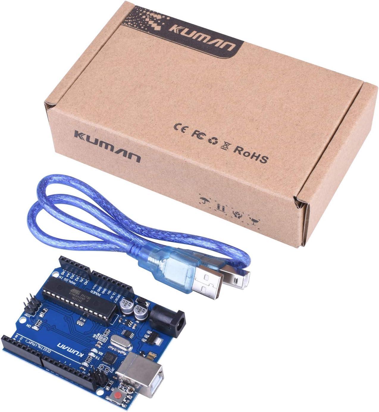 Geekcreit UNO R3 ATmega 328P Board de Desarrollo para Arduino Sin Cable GB