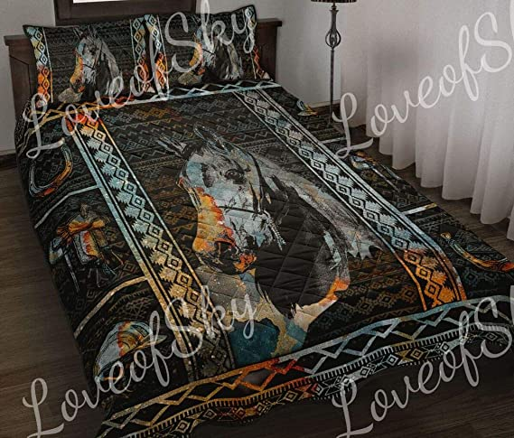 Amazon Com Horse Quilt Ideas Gifts For Thanksgiving Christmas Quilt Patterns All Season Quilts Comforters With Cotton King Queen Twin Size Beach Trips Gifts Quilt Home Kitchen