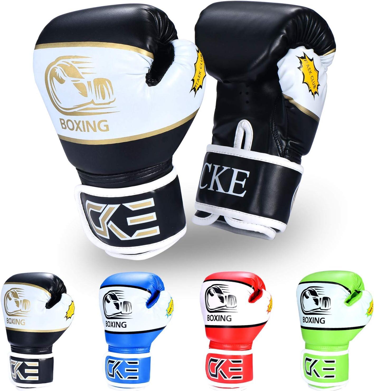 Kids boxing gloves punch bag junior mitts /& focus pads hand wraps training set 5