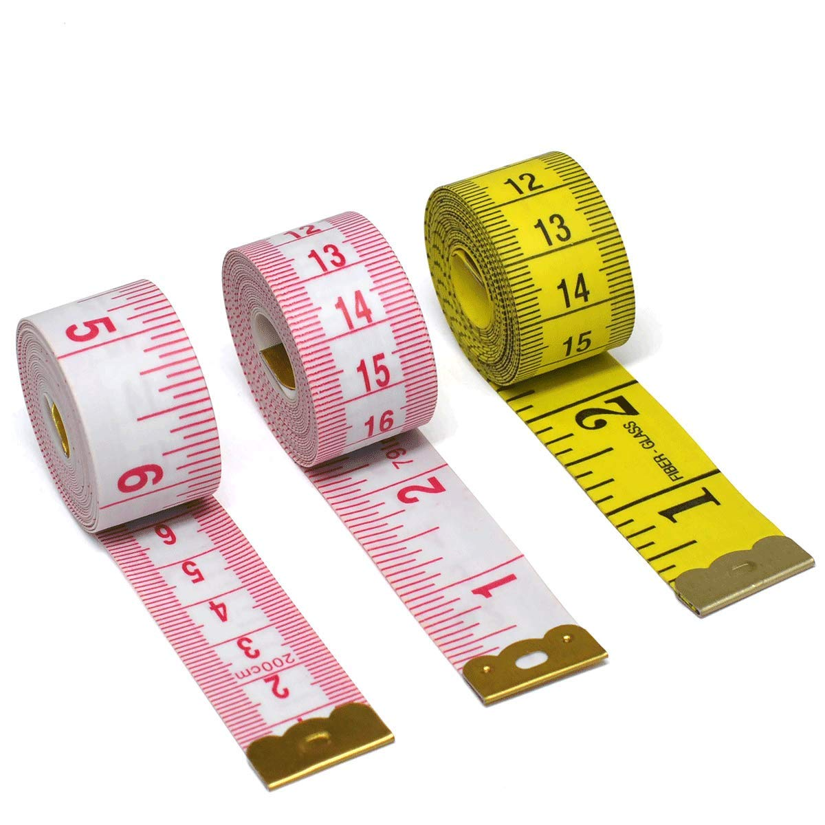 Soft Cloth Tape Measure Body, Tailor Plastic Measuring Tape for Sewing 3 Pack (79 inch x 2Pcs, 60 inch x 1Pcs, 2CM Wide) Aootech Aootech-6-14