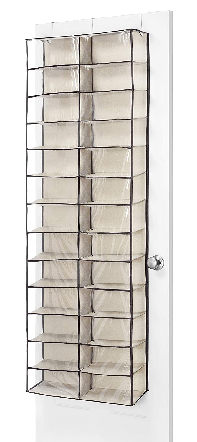 Behind Door Shoe Storage.Whitmor Over The Door Shoe Shelves 26 Sections Espresso