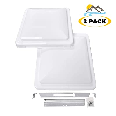 "Camp'N 14"" Universal RV, Trailer, Camper, Motorhome Roof Vent Cover - Vent Lid Replacement (White 2 Pack): Automotive"