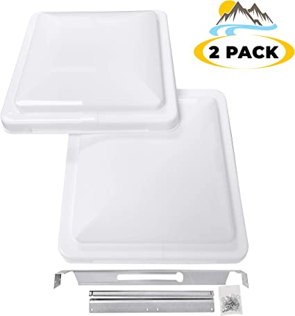 Roof Vent Covers >> Camp N 14 Universal Rv Trailer Camper Motorhome Roof Vent Cover Vent Lid Replacement White 2 Pack