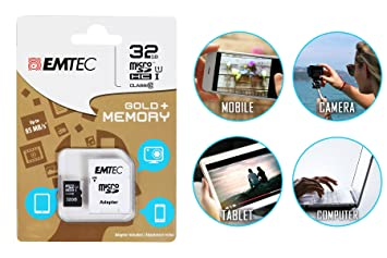 Tarjeta de memoria 32 GB Emtec Micro SD adaptador incluido ...