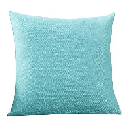 Loolik Fundas de Cojines,Fundas de Almohada de Tiro de Moda Cojín Cubierta Decoración para Home Size 40 x 40 CM (Azul Claro)