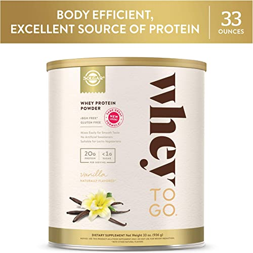 Solgar – Whey To Go Protein Powder, Natural Vanilla Flavor, 33 Oz.