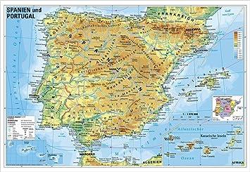 Landerkarte Spanien Und Portugal Physisch 95 X 65 Cm Als Poster