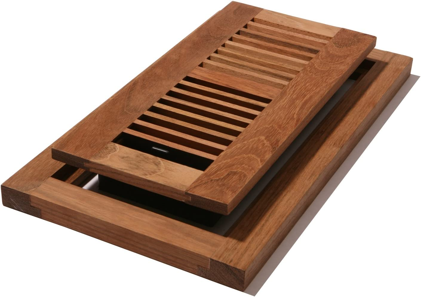 Unfinished Maple Decor Grates WMLF412-U 4-Inch by 12-Inch Wood Flushmount Floor Register