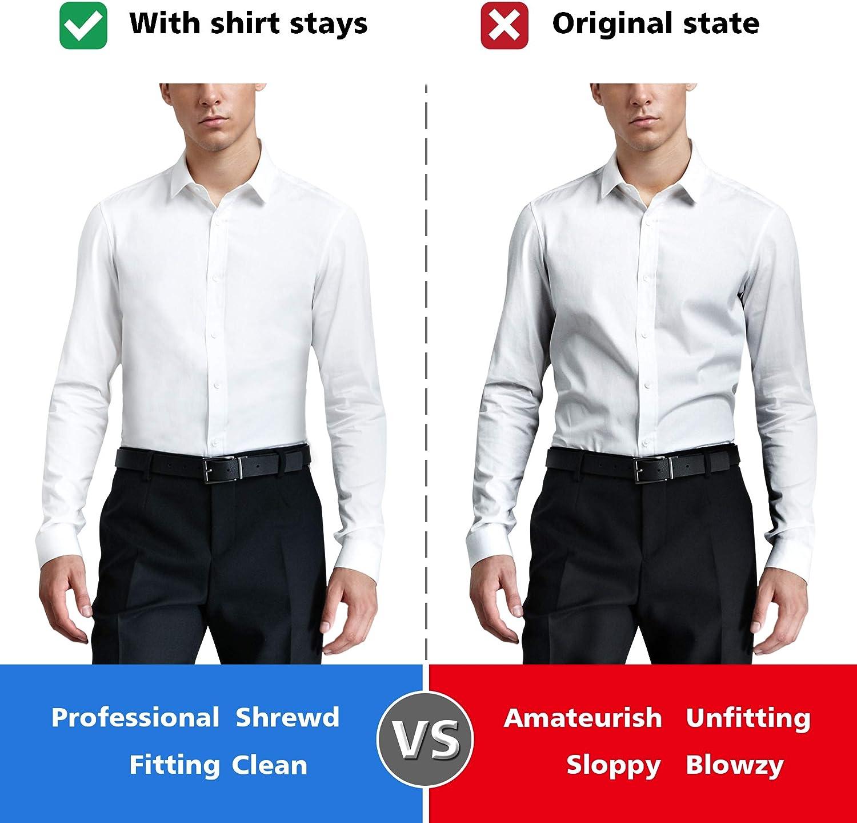 Shirt Stays Loop Adjustable Elastic Shirt Stay 2-Pack Stirrup Style 1 Pair