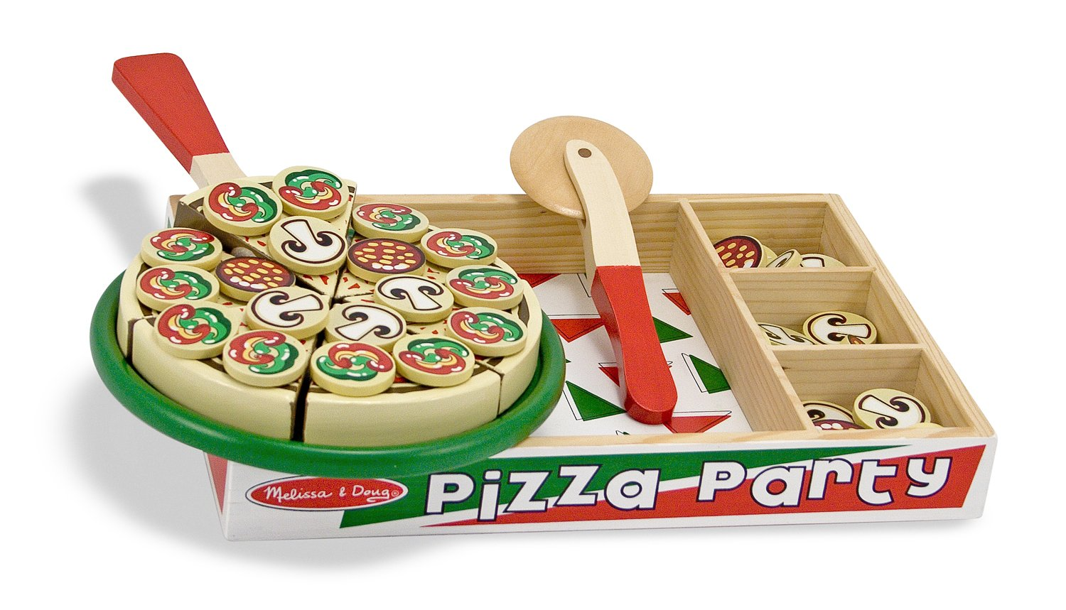 Melissa & Doug Pizza aus Holz - Holz Pizza
