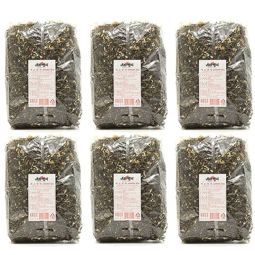 Daewha Jasmine Tea Bulk Loose Leaf, 1kg(2.2lb) (6 Pack)