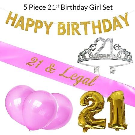 Virginias Store Kit de Fiesta de 21 cumpleaños: 21 y Banda ...