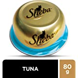 SHEBA Tuna Domes Cat Food, Multipack, 24 x 80g