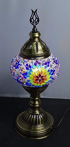 Lampara turca sobre mesa 35 cm x 13 cm - cristal mosaico ...