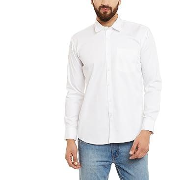 6d569217e5ac THE VANCA Men s Casual Off-White Semi Cotton Shirt  Amazon.in ...