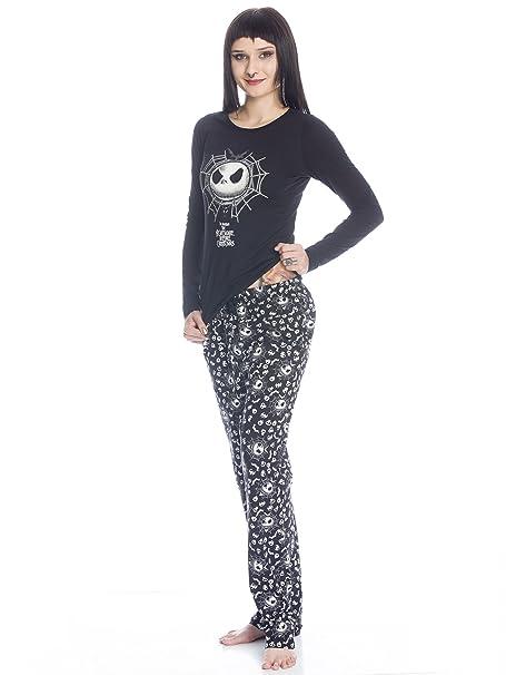 Pesadilla Antes De Navidad Spiderweb Jack Pijama Negro XS: Amazon.es: Ropa y accesorios