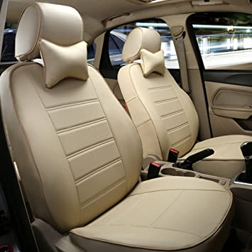 Car seat covers fit Volvo XC90 black//beige  leatherette full set