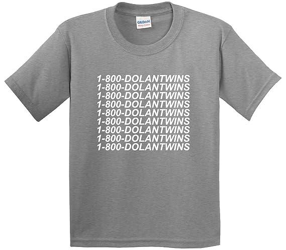 6f8a48234 Amazon.com: New Way 761 - Youth T-Shirt 1-800-DOLANTWINS Dolan Twins:  Clothing