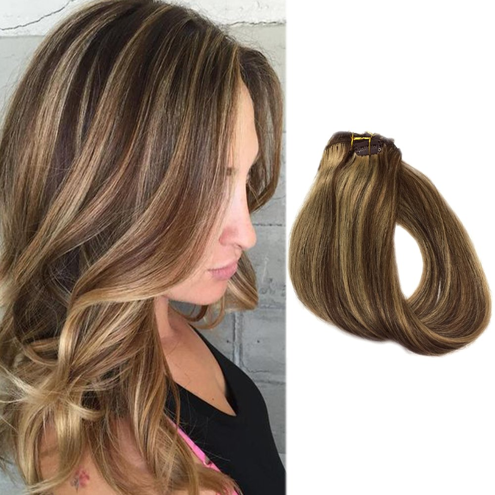 Amazon Clip In Hair Extensions Brown Hair With Blonde