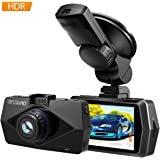 "2.7"" Screen Full HD 1080P Car Dash Cam with GPS, Atmoko 170° Wide Angle Car DVR with Night Vision, Dashboard Camera Recorder with G-Sensor, WDR , Loop Recording, Max 32GB TF Card"