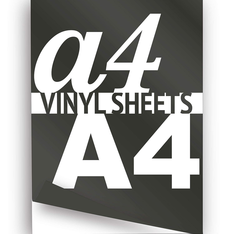 A4 Black Matte 297x210mm 1x Self Adhesive Vinyl Sheet, High Quality 5-7yr Grade JasonCarlMorgan