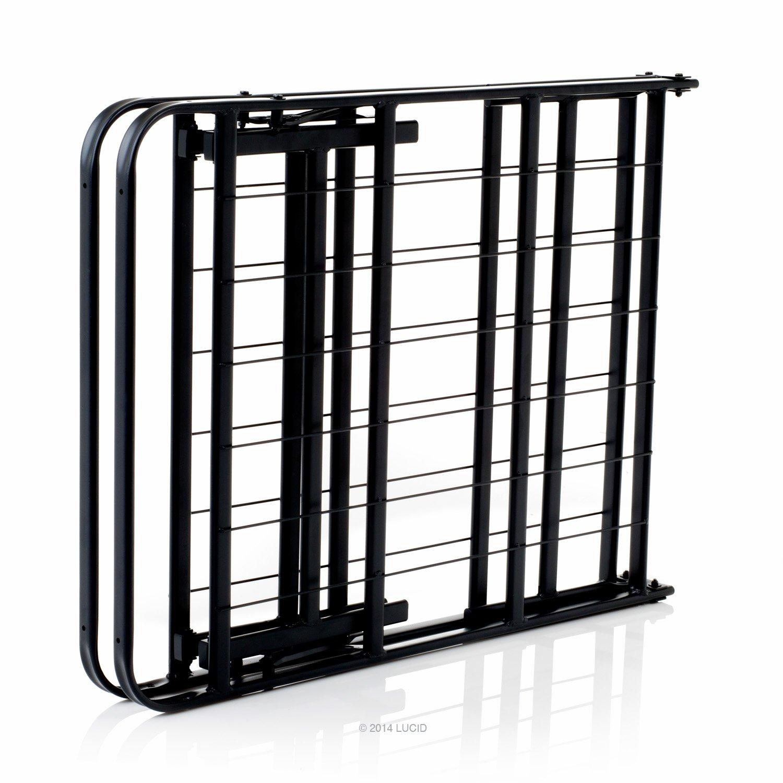 Amazon.com: LUCID Foldable Metal Platform Bed Frame and Mattress ...