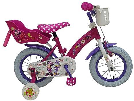 12 Pollici Bicicletta Minnie Mouse Telaio In Acciaio Bicicletta Per
