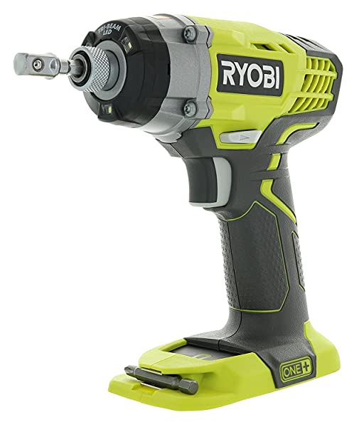 Ryobi One+ P236 18V 1/4 Inch 3,200 RPM 1,600 Inch Pounds Lithium Ion Cordless Impact Driver