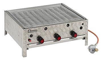 Landmann 00442M - Barbacoa de gas (3 termostatos, 9 tubos quemadores, 63 x