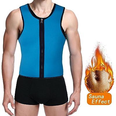 930fe14915 FUT Men Sweat Waist Trainer Tank Top Vest Weight Loss Neoprene Workout  Shirt Sauna
