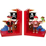 Set of Wooden Pirate Bookends