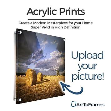 amazon com arttoframes 24x36 custom acrylic print upload your own