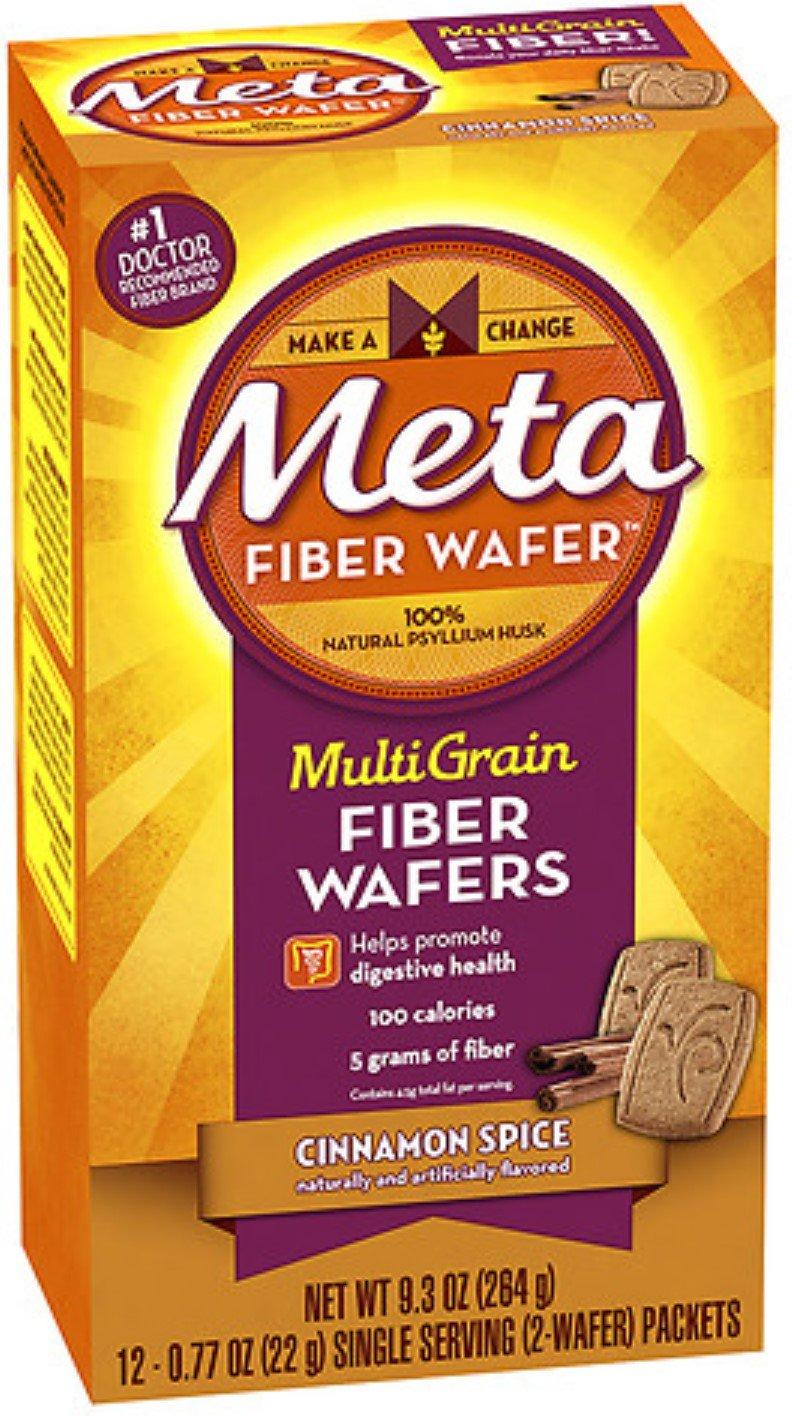 Metamucil MultiGrain Fiber Wafers, Cinnamon Spice 24 ea (Pack of 9)