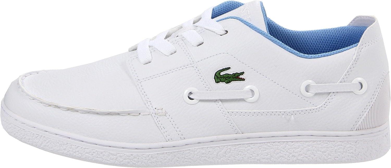 28d21fe37e0df Lacoste Cabestan Cup White Blue Leather Tennis Oxford Sneakers Boat Men  Shoes (11)