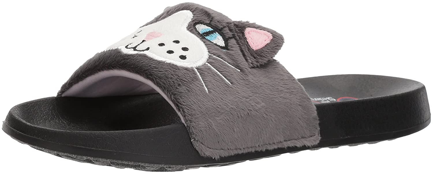 Skechers BOBS from Women's 2nd Take-Plush Animal Slide Sandal B074JR2BLT 11 B(M) US|Charcoal