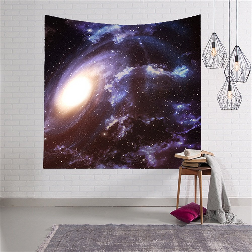 HENSE Star Cluster/Space Decor Tapestry, Outer Space Tapestry Decorations Galaxy Stars Universe Milky Way, Bedroom Living Room Dorm Decorative Wall Hanging Tapestry(HYC06) (1#)