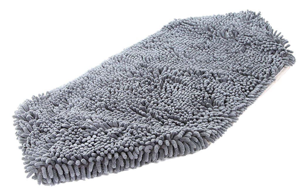Soggy Doggy Super Shammy Grey One Size 31'' x 14'' Microfiber Chenille Dog Towel with Hand Pockets by Soggy Doggy Doormat