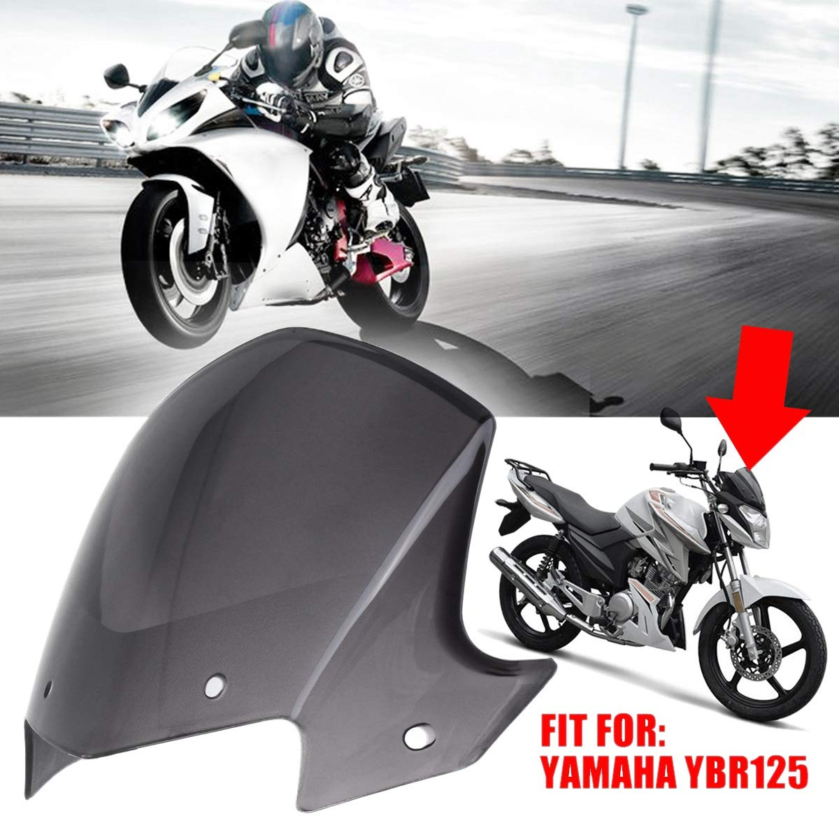 Semoic Cupolino Moto Trasparente Marrone Trasparente per Ybr 125 2014-2017