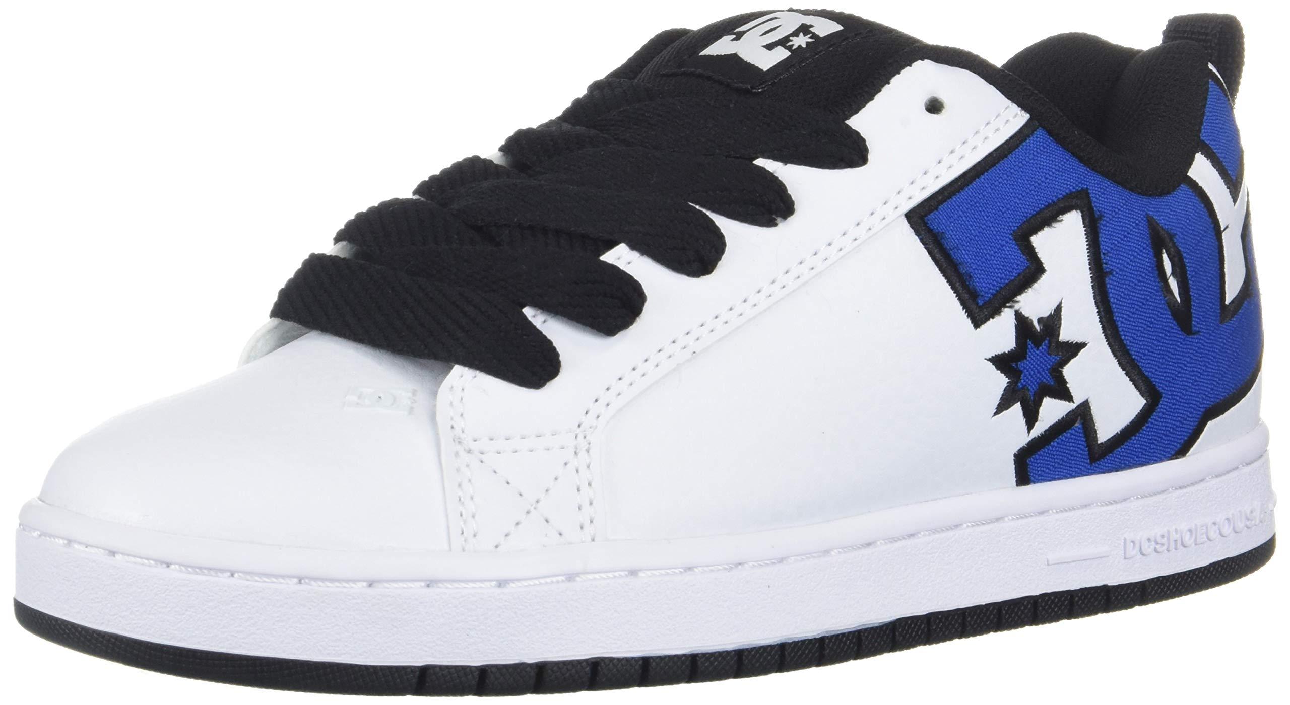 DC Men's Court Graffik Se Skate Shoe, Blue/White/Black, 6 D M US
