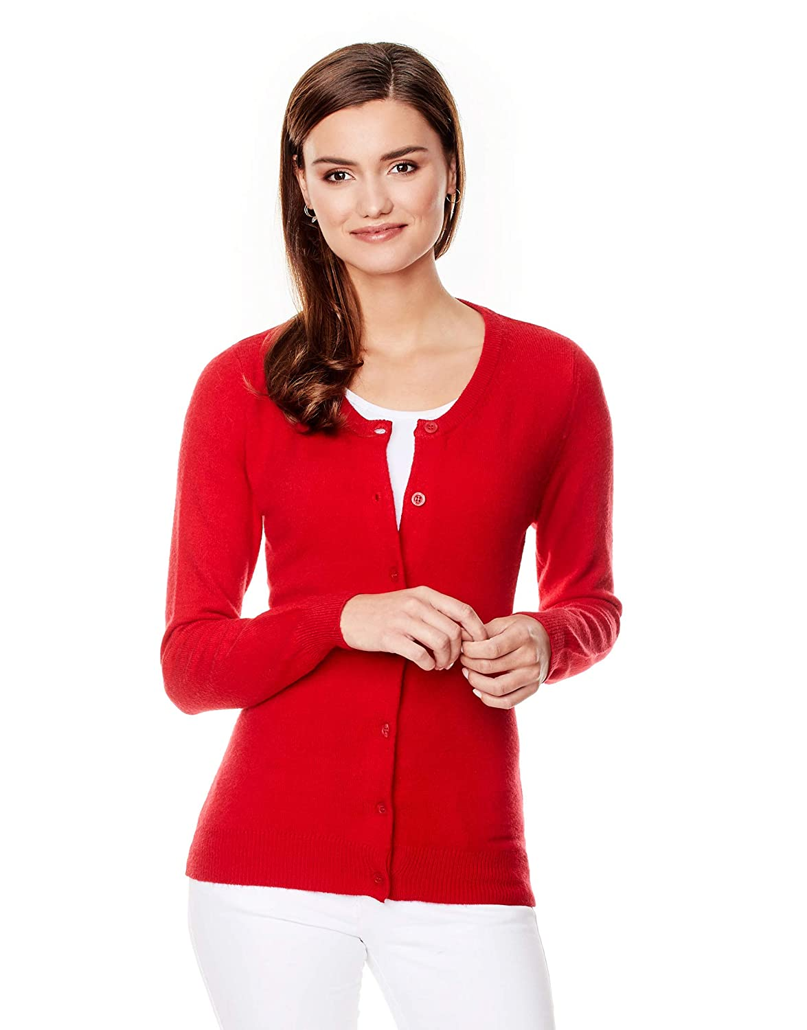 1437640e831b9a Vincenzo Boretti Women s Pull-Over Knitted Jumper Regular-fit Long ...