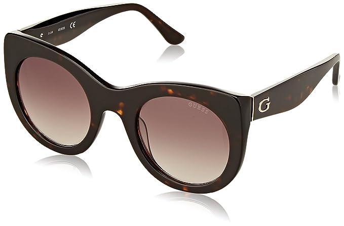 GUESS GU7485, Gafas de Sol para Mujer, Marrón (Havana), 51