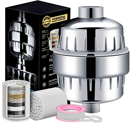10 etapas de filtro universal ducha, Ablandador de agua dura ...